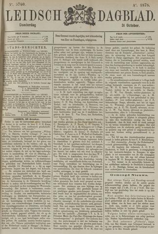 Leidsch Dagblad 1878-10-31