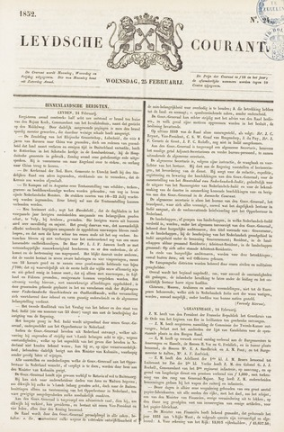 Leydse Courant 1852-02-25