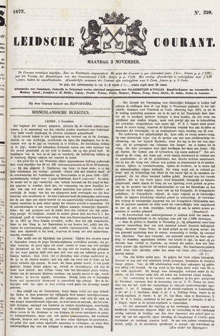Leydse Courant 1873-11-03