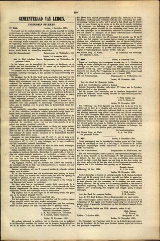 Handelingen van de Raad 1881-12-01