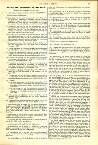 Handelingen van de Raad 1916-05-18
