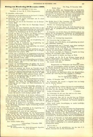 Handelingen van de Raad 1900-12-20