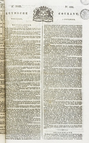 Leydse Courant 1843-11-01