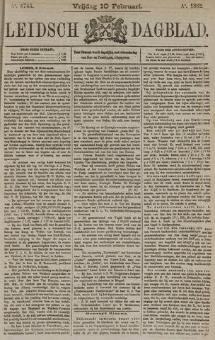 Leidsch Dagblad 1882-02-10
