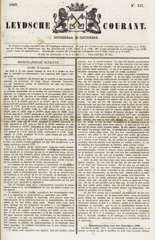 Leydse Courant 1869-09-30
