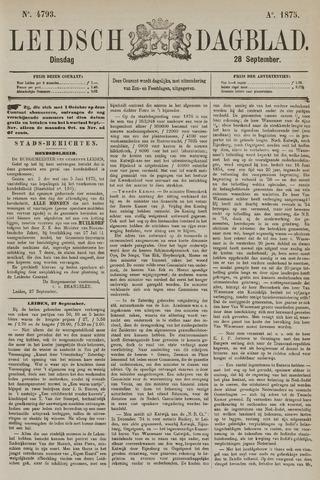 Leidsch Dagblad 1875-09-28