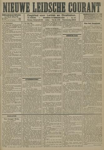 Nieuwe Leidsche Courant 1923-02-19