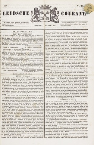 Leydse Courant 1865-02-17