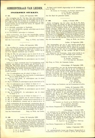 Handelingen van de Raad 1899-09-29