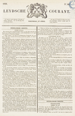 Leydse Courant 1853-04-27
