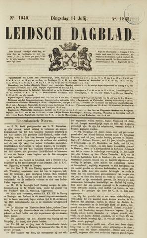 Leidsch Dagblad 1863-07-14