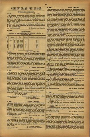 Handelingen van de Raad 1893-05-01