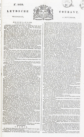 Leydse Courant 1839-11-27