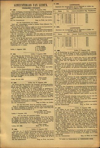 Handelingen van de Raad 1889-08-10