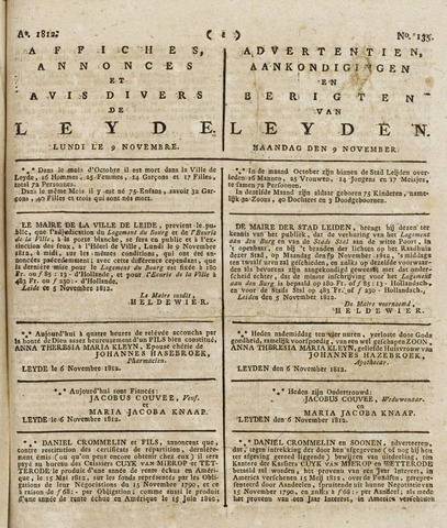 Leydse Courant 1812-11-09
