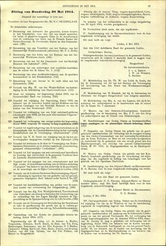 Handelingen van de Raad 1914-05-28