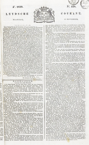 Leydse Courant 1839-11-18