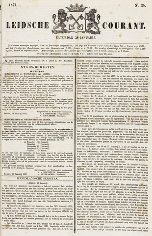 Leydse Courant 1871-01-28
