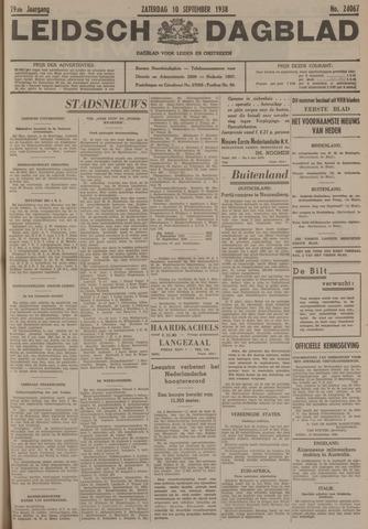 Leidsch Dagblad 1938-09-10