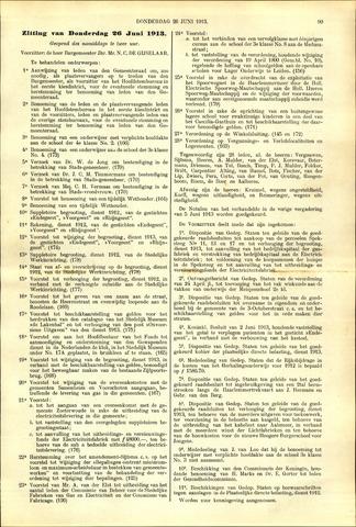 Handelingen van de Raad 1913-06-26
