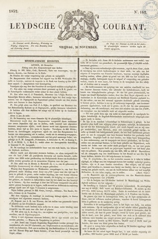 Leydse Courant 1852-11-26