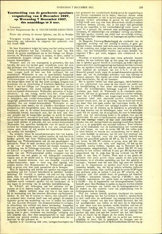 Handelingen van de Raad 1927-12-07