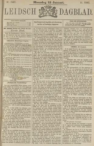 Leidsch Dagblad 1885-01-12