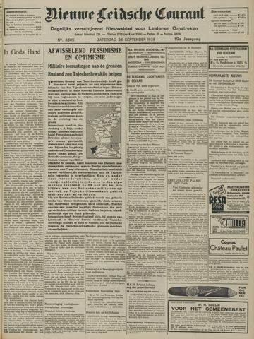 Nieuwe Leidsche Courant 1938-09-24