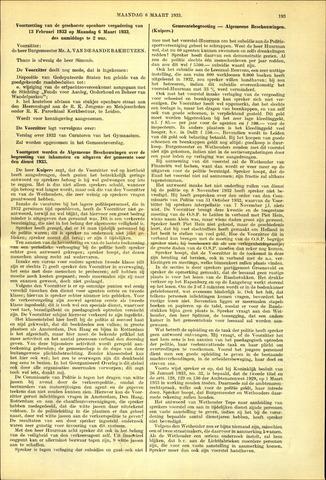 Handelingen van de Raad 1933-03-06
