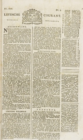 Leydse Courant 1826-01-18