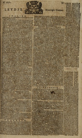 Leydse Courant 1751-01-04