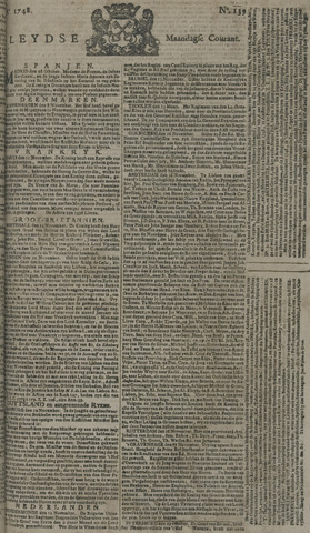 Leydse Courant 1748-11-18