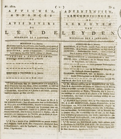 Leydse Courant 1812-01-08