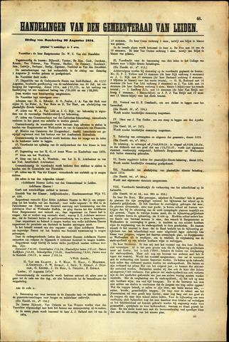 Handelingen van de Raad 1874-08-20