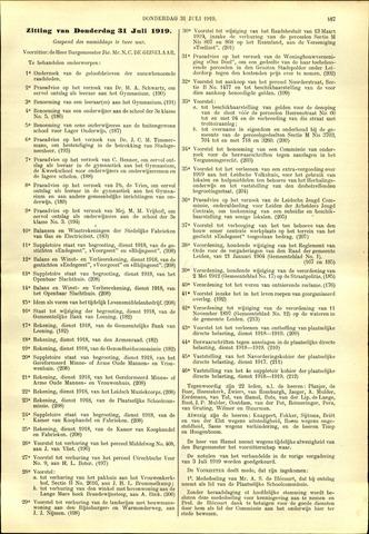 Handelingen van de Raad 1919-07-31