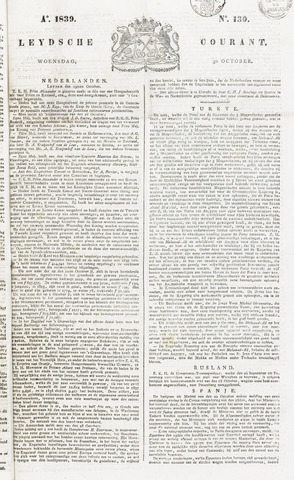 Leydse Courant 1839-10-30