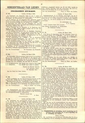 Handelingen van de Raad 1919-03-12