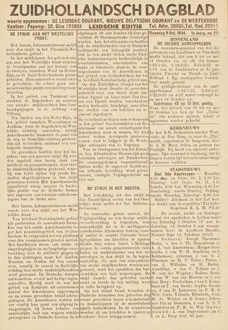 Zuidhollandsch Dagblad 1944-10-09