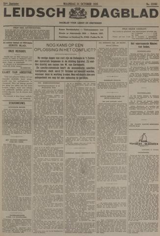 Leidsch Dagblad 1935-10-21