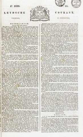 Leydse Courant 1839-08-16