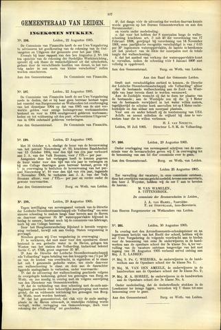 Handelingen van de Raad 1905-08-22