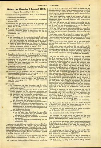 Handelingen van de Raad 1920-01-05