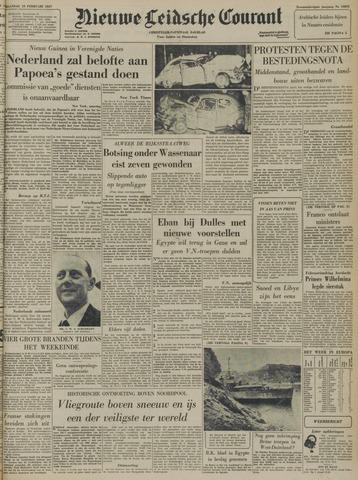 Nieuwe Leidsche Courant 1957-02-25