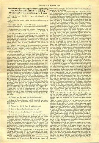Handelingen van de Raad 1919-11-28