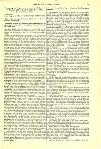 Handelingen van de Raad 1933-02-16