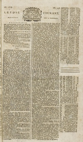 Leydse Courant 1819-12-29