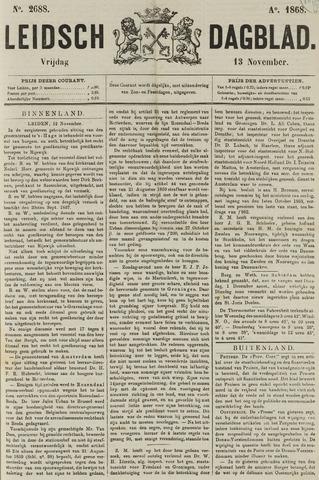 Leidsch Dagblad 1868-11-13