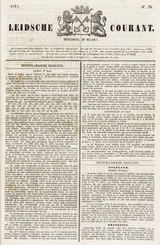 Leydse Courant 1871-03-28