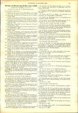 Handelingen van de Raad 1899-12-21