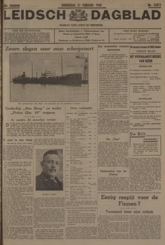 Leidsch Dagblad 1940-02-22